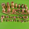 Brass nut,Brass inserts,straight thread Knurling nut (Factory sales)
