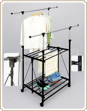 Wholesale balcony clothes drying rack with wheels