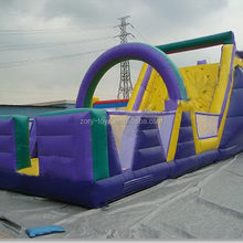 Special unique inflatable floating obstacle course