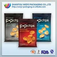 hot Disposable matte resealable bag of potato chips