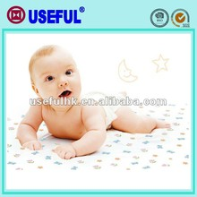 With plastic bag feeding OEM disposable baby mats promotional mats