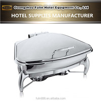 Deluxe fan-shaped mini hydraulic stainless steel chafing dish for hotel restaurant equipment/home banquet