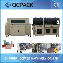 Shrink wrapping machine for many industry as stationery, food, cosmetic, pharmaceutical,metal,etc