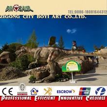 Amusement equipment life size animatronic electronic dinosaur