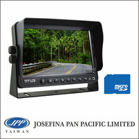 "7 lcd TFT LCD car DVR Monitor, 7"" stand monitor with DVR, recording for truck, heavy-duty, bus, camping, fleet, forklift"