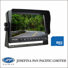 """7 lcd TFT LCD car DVR Monitor, 7"""" stand monitor with DVR, recording for truck, heavy-duty, bus, camping, fleet, forklift"""