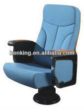 lecture hall chair with aluminium frame and single leg