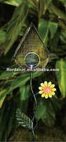 1 LED with Steel wire nets bird house garden solar Stake lights(SO3165)