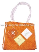 2011 Hot red small Square Fashion ladies jute Bag/ for books or dvd/purse/slg