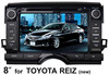 for Toyota Reiz (new) 8 inch 2 din Car monitor with GPS, bluetooth