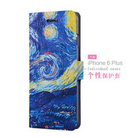 Best selling products cartoon mobile phone paint leather case for iphone 6 case flip wholesale