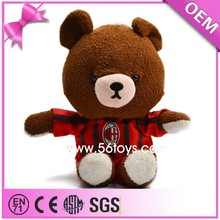 Custom Teddy Bear With Football Team T shirt Soccer Giveaways Plush Teddy Bear
