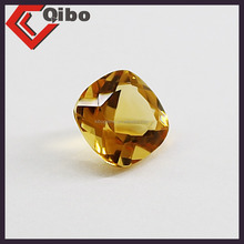 Facets Gems Synthetic Yellow Checker Cushion CZ Cut Citrine Stone Prices