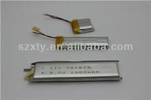 3.7v li-ion polymer battery 900MAH Good Quality OEM