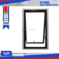 Aluminum awning movable louver window with double glass