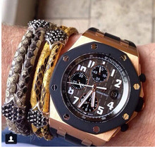 Hot new products for 2015 most popular europe product cool men jewelry python bracelet
