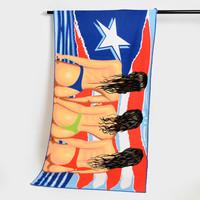 Microfiber fringe beach towel for adults, custom sex beach towels wholesale, sexy beach towel