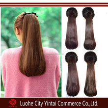 Hot synthetic hair drawstring ponytail,Long Straight Synthetic Ponytail