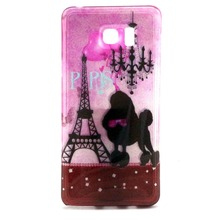 Fancy Luxury Bling TPU Case for Samsung galaxy Note 5, Eiffel Tower romantic design case for samsung note 5 TPU, New design