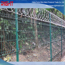 Galvanized razor wire fence installation