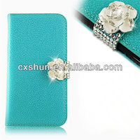 High quality Laxury PU leather case for Samsung S4 I9500