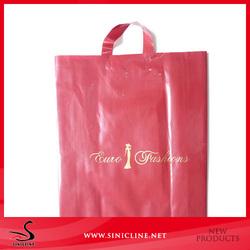 Sinicline hot sale logo printed custom made plastic shopping bag