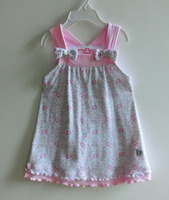 New style baby clothes 100% cotton confortable new model girl dress