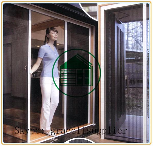 En aluminium r tractable sans rail pliss e porte for Fenetre hors ecran