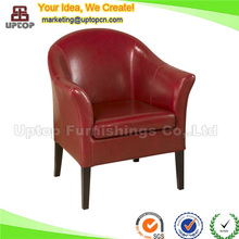 (SP-HC525) Modern Armrest dining single sofa leather coffee chair