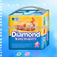 Diamond Soft Sleepy Cotton Disposable Baby Diapers with Good Quality(JHC005)