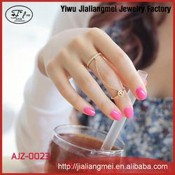 New Simple Fancy Gold Ring Design Women Finger Rings