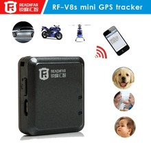 Super mini RF-V8 personal GPS Tracker support App/Android app vibration sensor anti-theft Remote listening function Trace replay