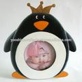 Princesa pinguim cartoon photo frame, crianças dos desenhos animados frame, bebê de madeira photo frame, 11x11cm picture frame