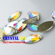 Wholesale shining Crystal AB rhinestones sew on glass for fashion decoration