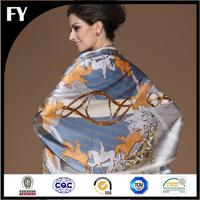 Custom Digital Print Wholesale Portuguese Silk Scarf
