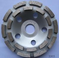 Chinese Factory l row diamond cup grinding wheel for concrete and terrazzo From Shine Peak