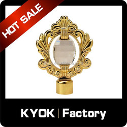 top design modern window diamond curtain pole finials for a home decoration project