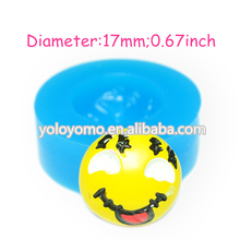 JYL105 Naughty Face Silicone Mold Fondant Sugarcraft Cake Decorating Polymer Clay Gum Paste Candles Moulds