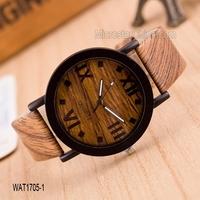 2015 Wholesale digital design mix color waterproof wood watch