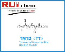 Tetramethylthiuram dissulfeto de borracha acelerador TMTD