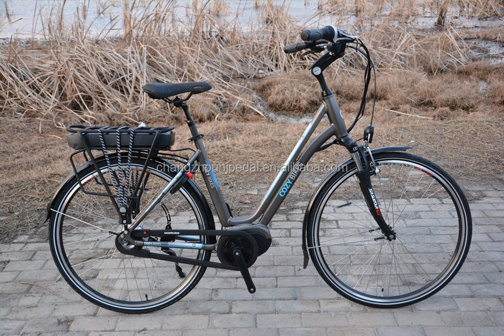 Mid drive motor electric bicycle with front and rear for Mid motor electric bike
