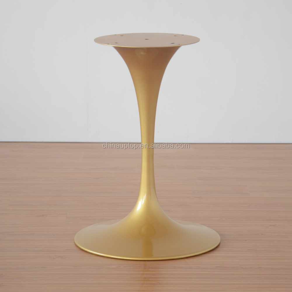 Furniture Parts Glossy Iron Pedestal Base Rose Gold Tulip Table Base - Tulip table bases for sale
