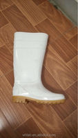 cheap white special foodstuff boots steel toe cap