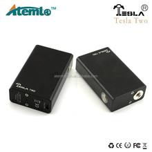 beautiful fashion Tesla Two box mod use 2 pcs battery in parallel / Tesla Two box mod