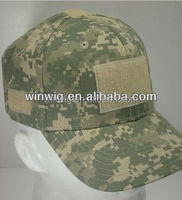 Camo fabric baseBall Cap and Hat With Velcro for Flag and name