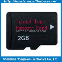 Wholesale 100% full capacity tf 2gb memory card for camera +free sd adapter
