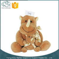 Professional design best animal safe stuffed rhino plush toys
