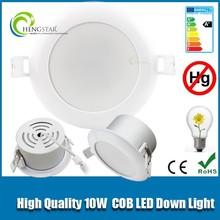 High quality ac85-265v 2 years warranty 60 degree 10w downlight ra80 ,10w cob downlight