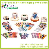 Yori High quality printing label pvc free sticker anti radar