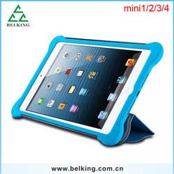 Top Quality Mini Tablet Hybrid Case For iPad Mini 1/2/3/4, PC+PU+Silicon Case